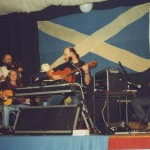 Ma playing with a band in Scotland